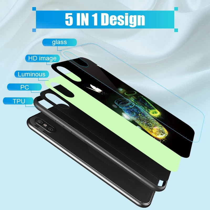Luminous Tempered Glass Case - Moonlight