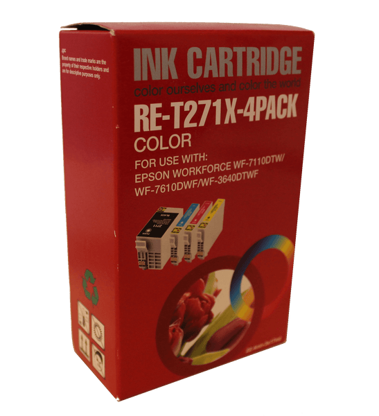 Inkrite Compatible Epson T2715 27XL Ink Cartridge Full - Set 4 Pack C,Y,M, LRG BK Non OEM - Calutek Online