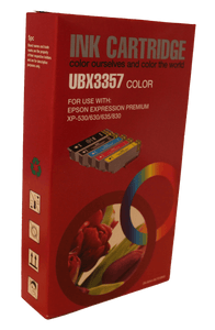 Inkrite Compatible Epson T3357 33XL Ink Cartridge Full - Set 5 Pack C,Y,M,BK, LRG BK Non OEM - Calutek Online