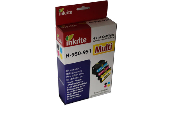 Inkrite HP Compatible 950XL HP 951XL - Black, Cyan, Magenta, Yellow - Calutek Online