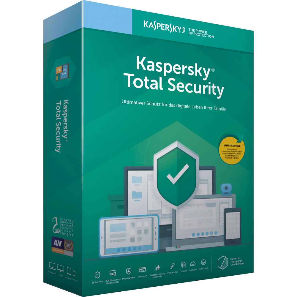 Kaspersky Total Security 2020 1-Device 1 year - Digital Download Software - Calutek Online