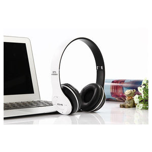 ST3 Wireless Bluetooth Stereo Headset Adjustable On-ear Headphones - White - Calutek Online