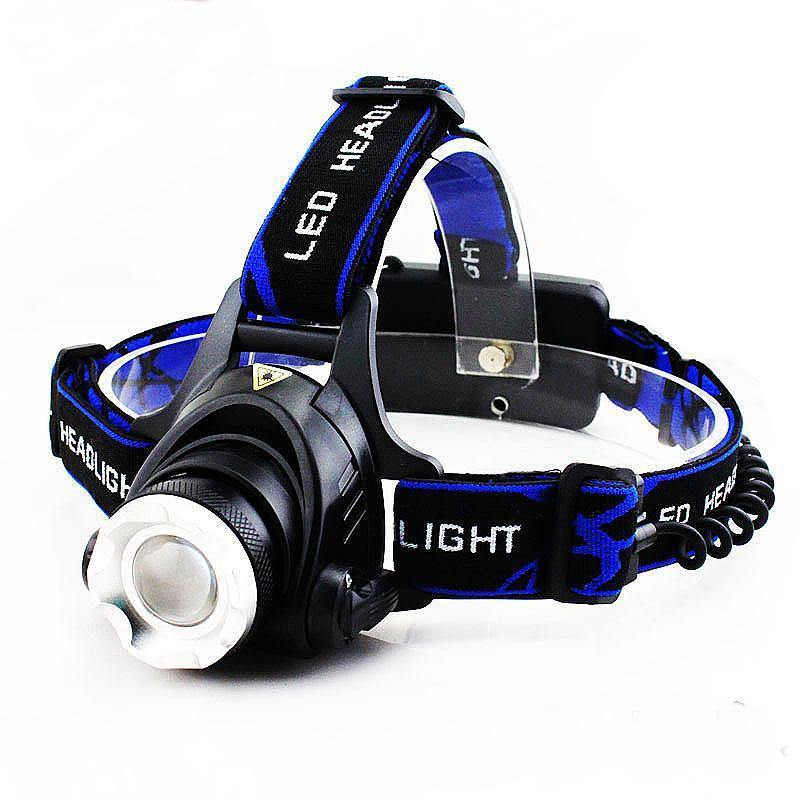 T6 Cree XM-L2 Headtorch Headlight Head Lamp LED Rechargeable Head Light Lamp with Battery Charger - Calutek Online