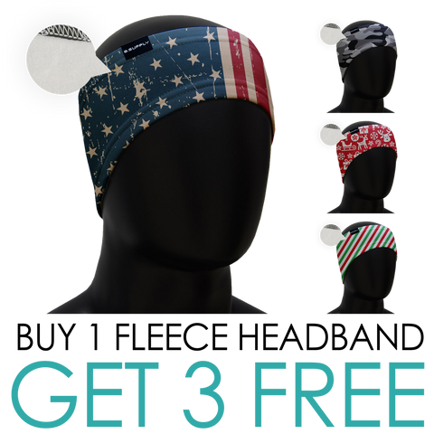 BUY 1 GET 3 FlEECE HEADBANDS