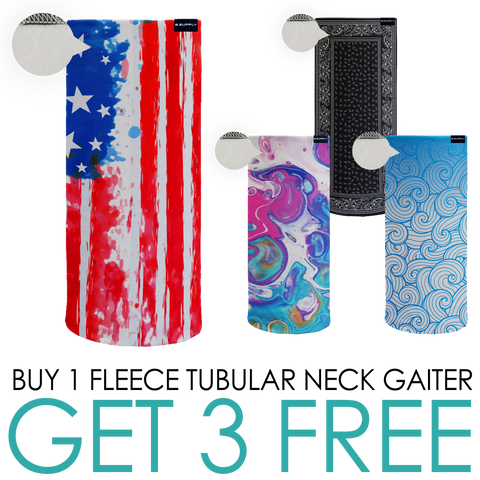 BUY 1 GET 3 FREE FLEECE NECK GAITERS!
