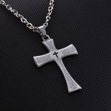 Load image into Gallery viewer, Limited Edition Bible Verse Cross Necklace