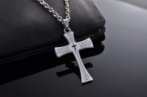 Limited Edition Bible Verse Cross Necklace