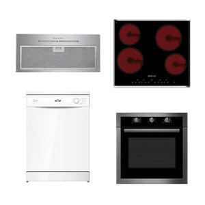 DMG SHOP - EISNO Package1:Built-in Rangehood 600mm+Cook top 600mm+Dishwasher+5 Function Oven