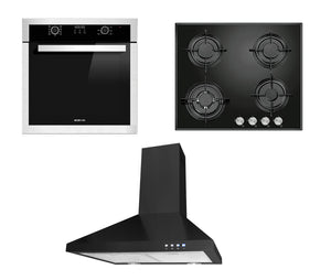 Package product Parmco 600mm Rangehood+Eisno 600mm Gas Hob+Eisno 9 Functions 65L Oven