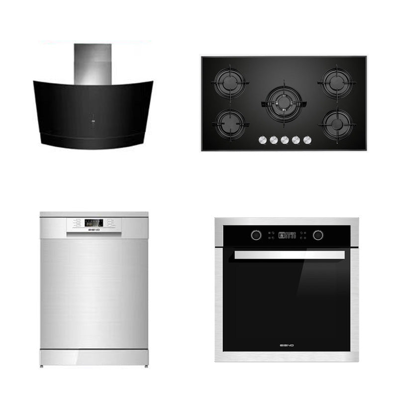 DMG SHOP - EISNO Package 4: Gas Cooktop 900mm+ Rangehood 900mm+ Dishwasher+ 10 Function Oven