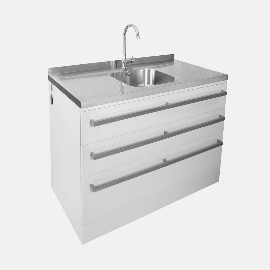 Robinhood 120cm Supertub Workstation with Triple Storage Drawers