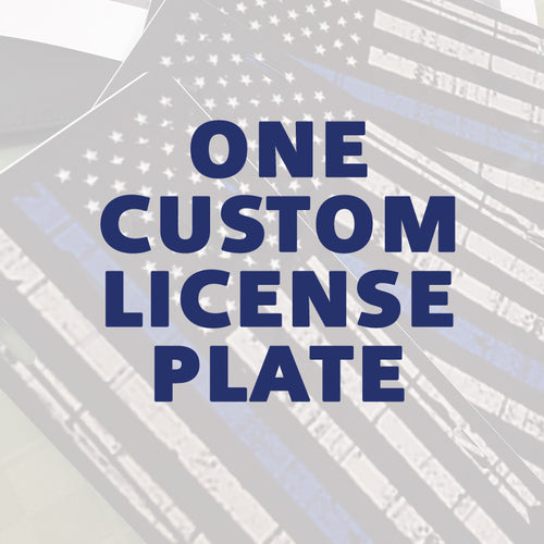 One Custom License Plate