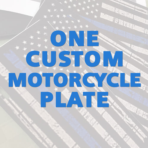 One Motorcycle vanity Plate