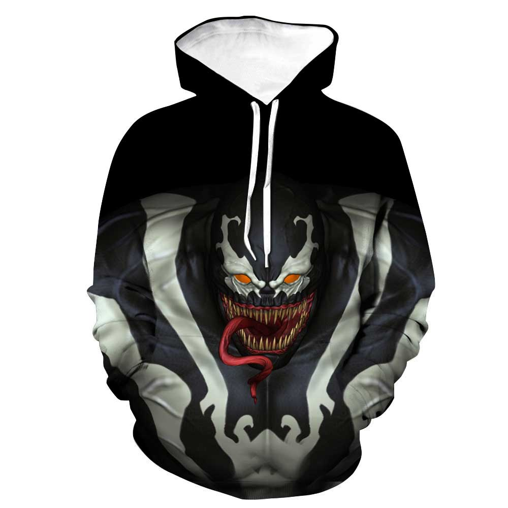 Spiderman Hoodies - Venom Spiderman Marvels Latest Venom 3D Hoodie