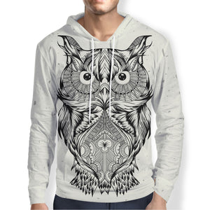 Black and White Owl Hoodie