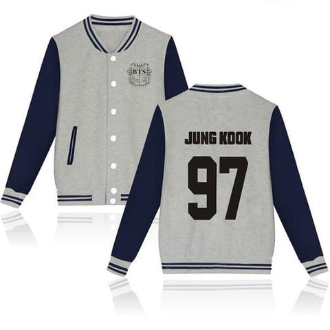 BTS Coat - BTS JUNG KOOK Striped Super Cool Jacket