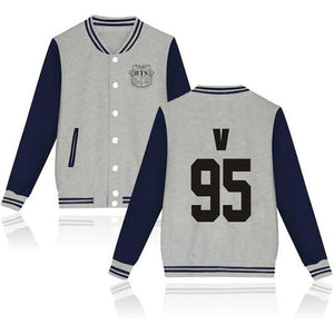 BTS Coat - BTS V Striped Super Cool Jacket