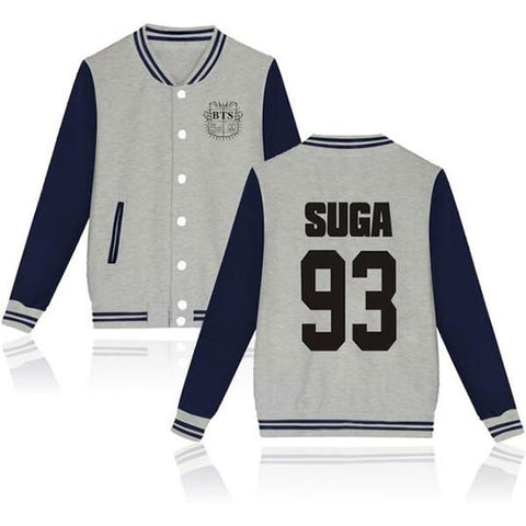 BTS Coat - BTS SUGA Striped Super Cool Jacket