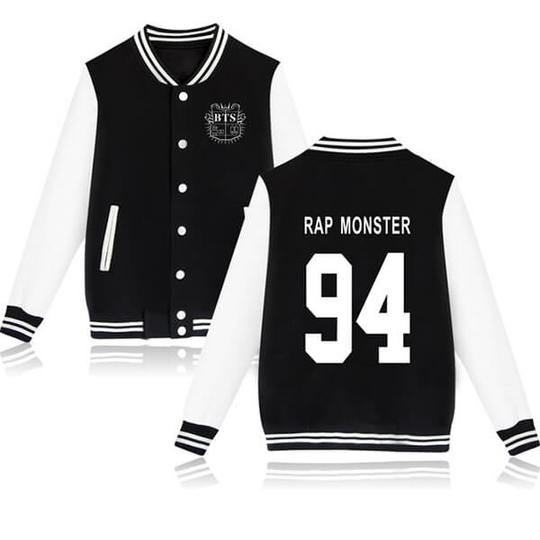 BTS Coat - BTS RAP MONSTER Striped Super Cool Jacket