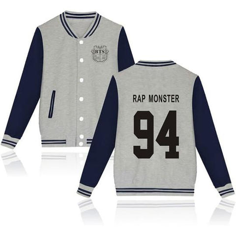 Image of BTS Coat - BTS RAP MONSTER Striped Super Cool Jacket