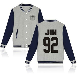 BTS Coat - BTS JIN Striped Super Cool Jacket