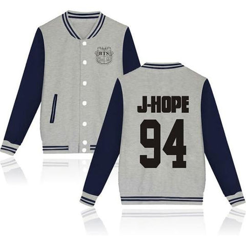 BTS Coat - BTS J-HOPE Striped Super Cool Jacket
