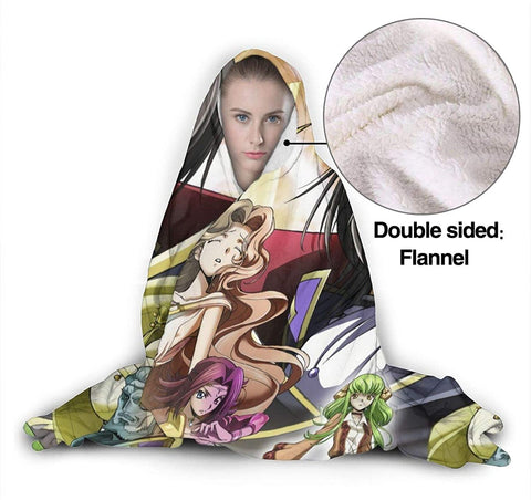 Anime Code Geass Flannel Hooded Blanket