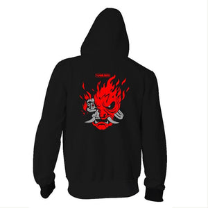 Teen Hoodie Cyberpunk 2077 Zip-Up Sweatshirt Unisex