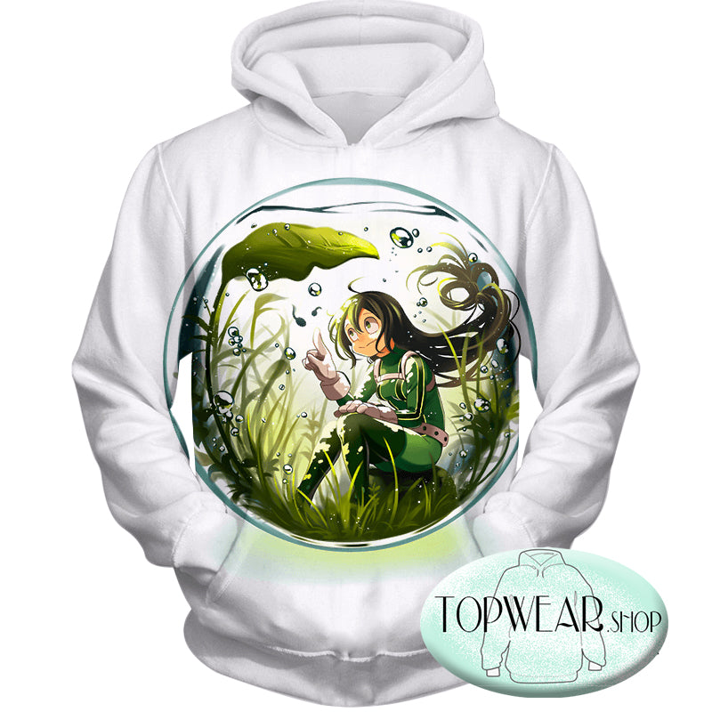 My Hero Academia Hoodies - Amazing Rainy Season Hero Froppy Asui Pullover Hoodie