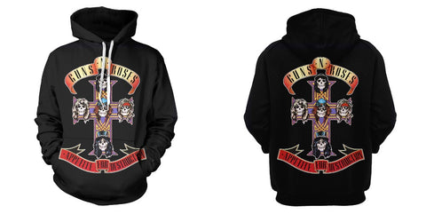 Image of 2019 New Music Hoodies—— Guns N' Roses Unisex 3D Print Appetite For Destruction Hoodies