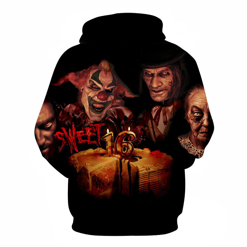 Halloween Devil The Clown Face 3D Printed Hoodie