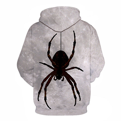 Image of Devil Black Spider Print Halloween Hoodie