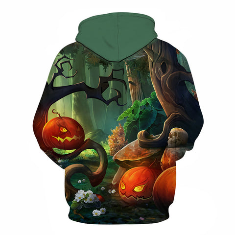 Image of Halloween Jungle Party Pumpkin Lamp 3D Printed Hoodie