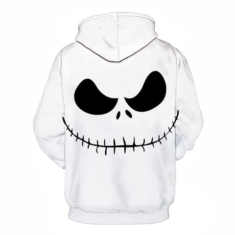 Image of Halloween Devil Skull 3D Printed Jack Skellington Hoodie