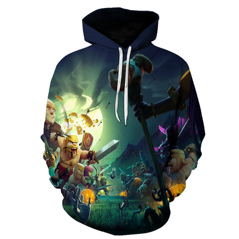 Image of Halloween Against Devil 3D Printed Hoodie
