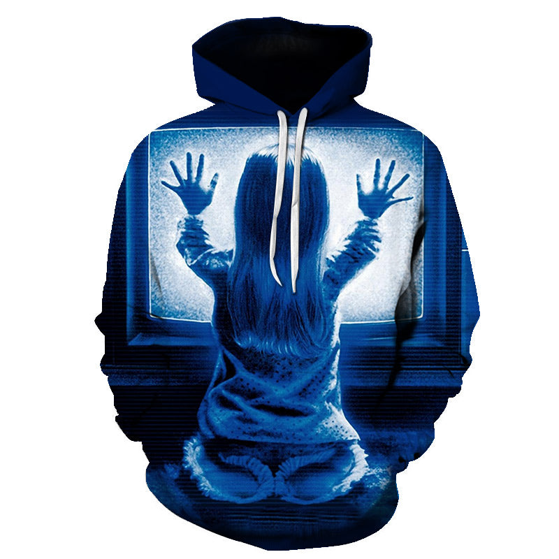 Halloween Devil The Child Back 3D Printed Hoodie