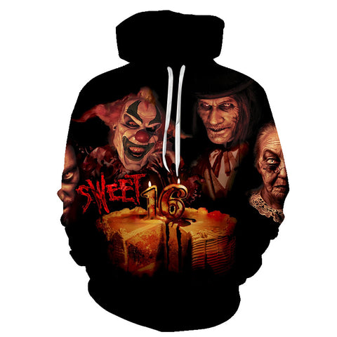 Image of Halloween Devil The Clown Face 3D Printed Hoodie