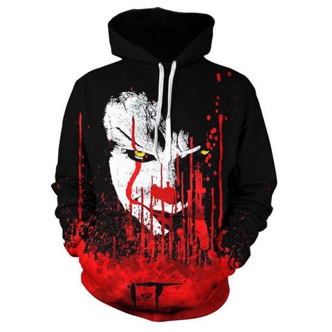 Joker 3D Printed Sweatshirt Hoodies - Suicide Squad Hooded Pullover