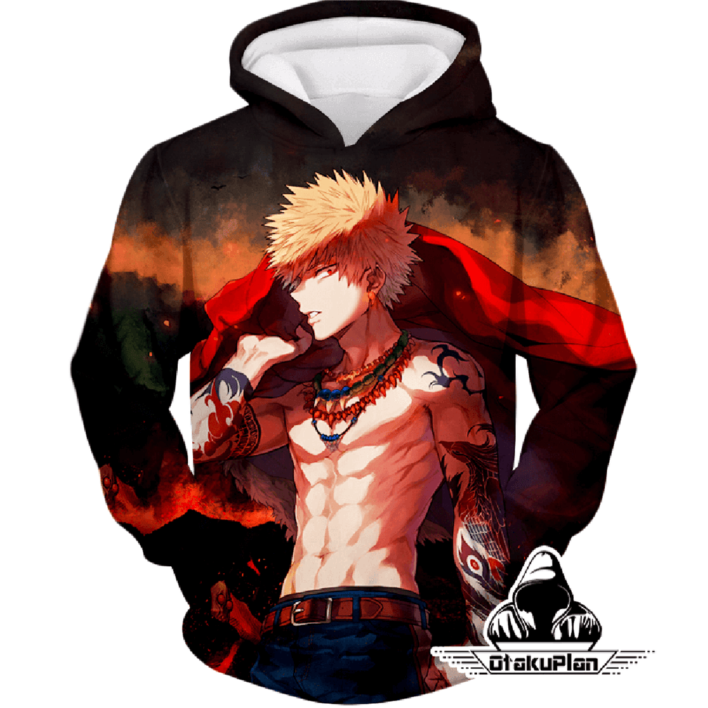 My Hero Academia Handsome Hero Fan Made Bakugo Katsuki Cool Anime Promo Hoodie MHA097