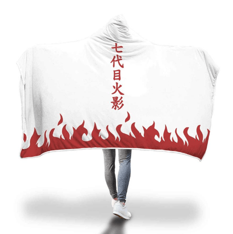 Image of Naruto Hooded Blankets - Seventh Hokage Hooded Blanket