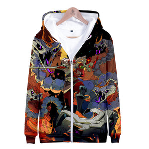 Hades Game Zipper Hoodies 3D Print Hooded Pullover