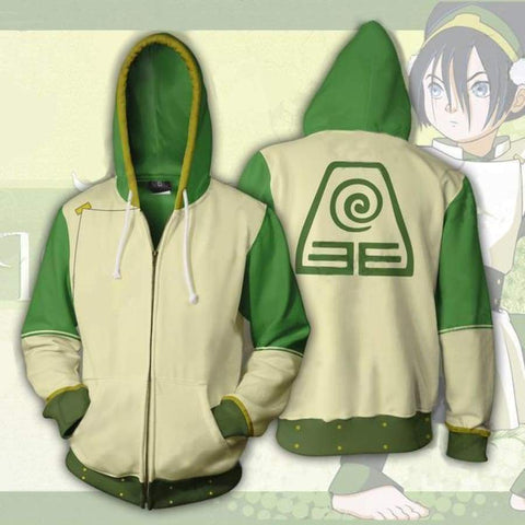 Image of Avatar: The Last Airbender Hoodie Cosplay Costume Anime Zipper Hoodie