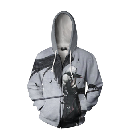 Final Fantasy Hoodies - Final Fantasy VII Zip Up Hoodie
