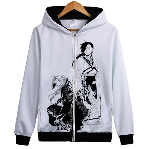 Fullmetal Alchemist Hoodies - Zip Up Cosplay Coat Hoodie