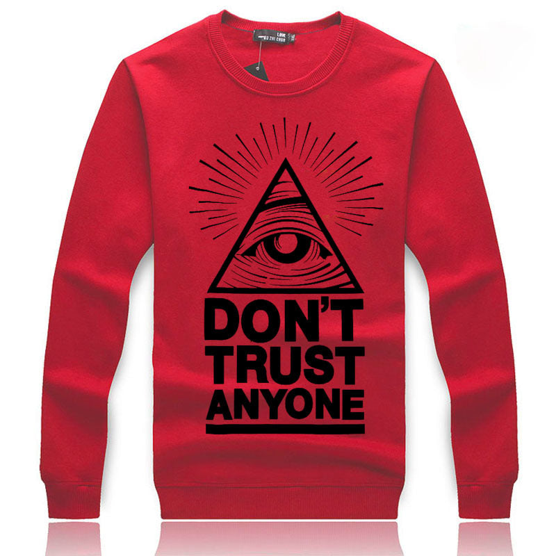 Men's Sweatshirts - Men's Sweatshirt Series DON'T TRUST ANYONE Black Icon Fleece Sweatshirt