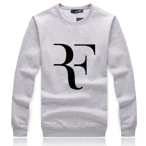 Image of Men's Sweatshirts - Men's Sweatshirt Series RF Black Icon Fleece Sweatshirt