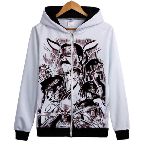 Fullmetal Alchemist Hoodies - Zip Up Anime Brown Print Hoodie
