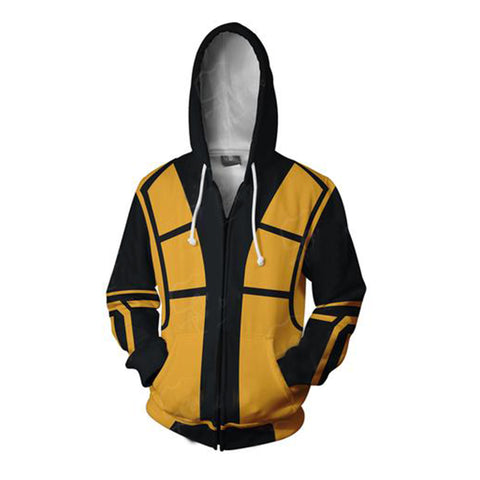 Mortal Kombat Hoodies - Zip Up Scorpion 3D Hoodie