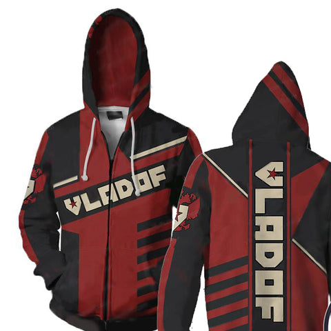 Image of Borderlands Vladof  V2 Hoodies- Zip Up Red Hoodie