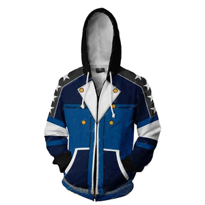 Kingdom Hearts Sora Hoodies - Blue Version Zip Up Hoodie